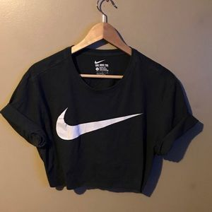 nike black crop top